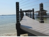Fender Marine Construction Access Walkway Vinyl Decking and Cable Railing